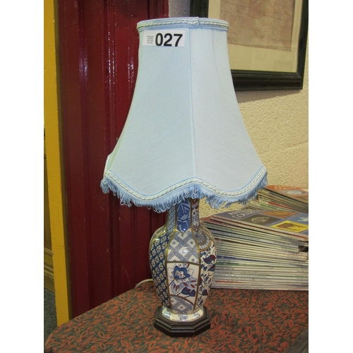 27 - Porcelain hand painted table lamp....