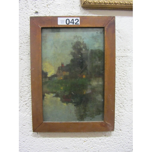 42 - Victorian oil on board - Signed....