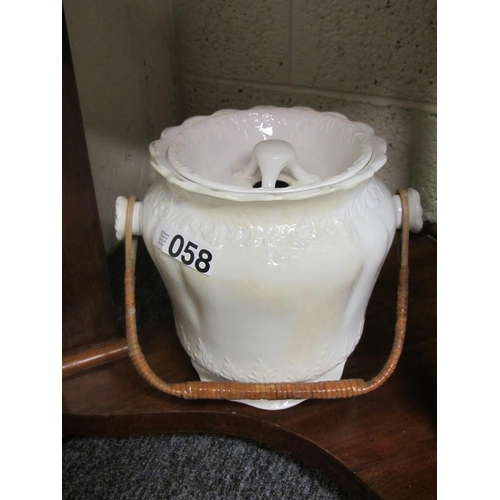 58 - Porcelain bathroom bucket....
