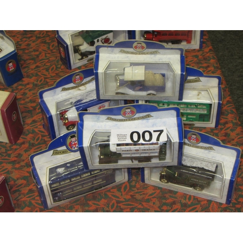7 - 6 Oxford Die Cast model Trucks and Busses....