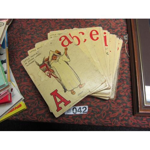 42 - Vintage children's cardboard alphabet....