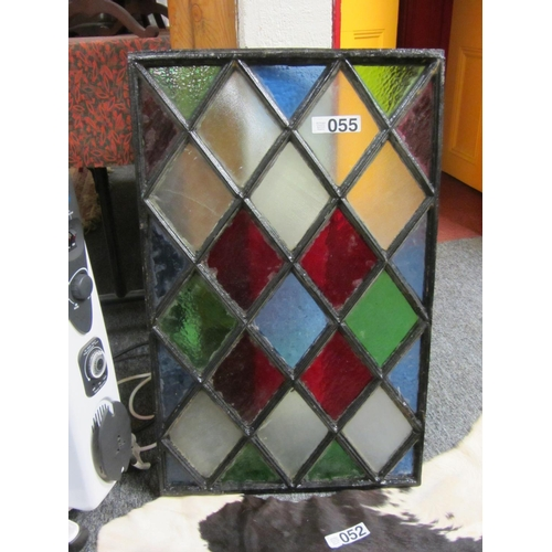 55 - Victorian cast iron Stained glass window....