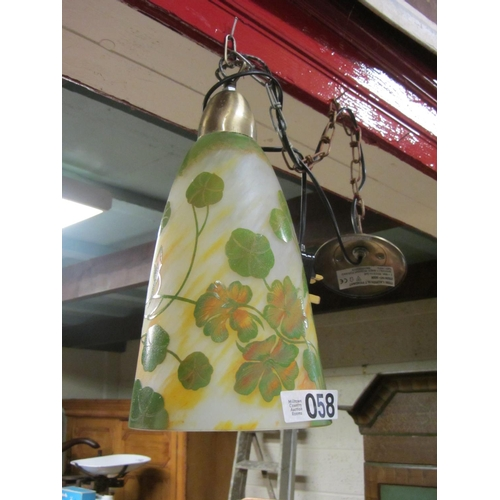 58 - Hand painted art deco ceiling light....