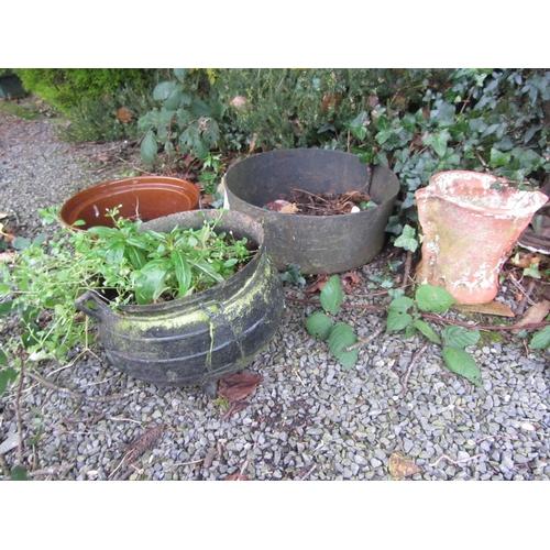 12 - Old Antique pot over plus skillet pot....