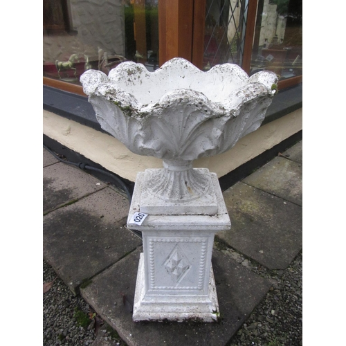 20 - Large garden urn on stand....