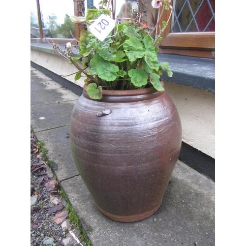 21 - Large Earthenware urn....