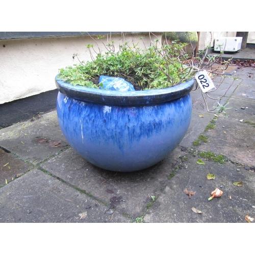22 - Garden planter (blue)...
