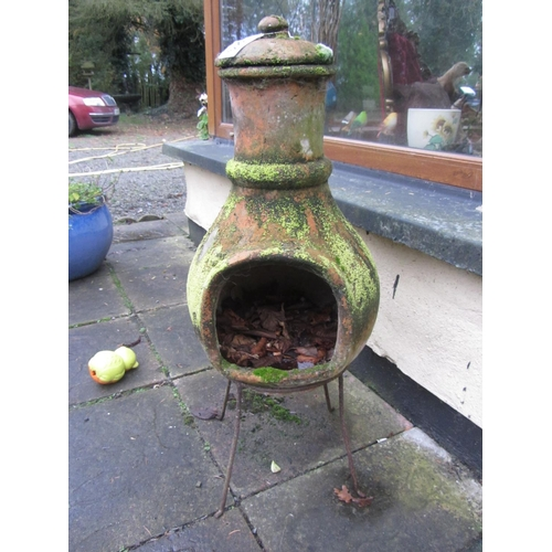 24 - Earthenware garden stove....