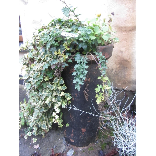 29 - Antique chimney pot/planter plus others....