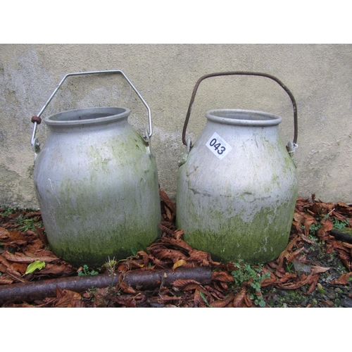 43 - Pair of Aluminium milk churns....