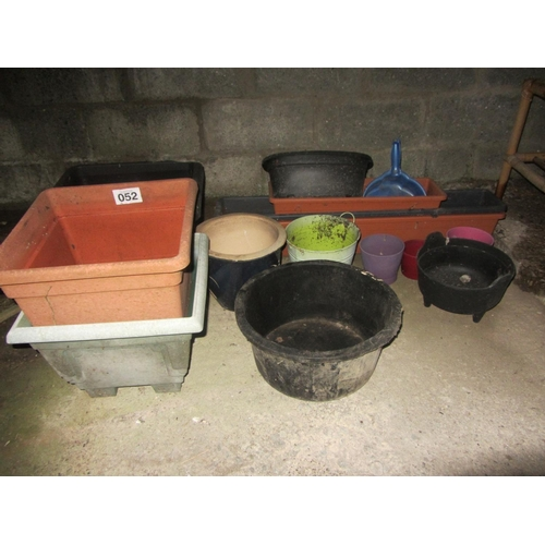 52 - Large collection of garden planters....