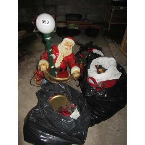 53 - Large collection of Christmas ornaments....