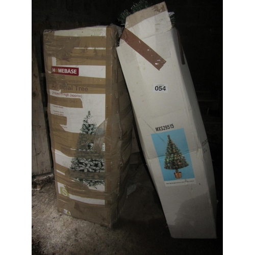 54 - 2 Christmas trees....