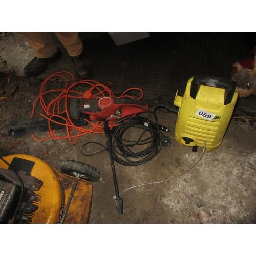 59 - Power washer plus garden hedge cutter....