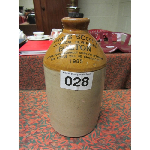 28 - Earthenware whiskey Jar - by James Scott Bolton dated 1935....