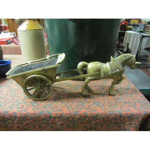 34 - Brass Horse and Cart....