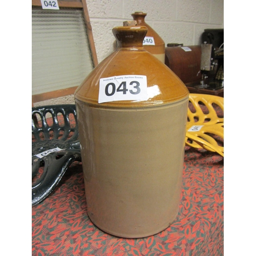 43 - Antique Earthenware Whiskey Jar....
