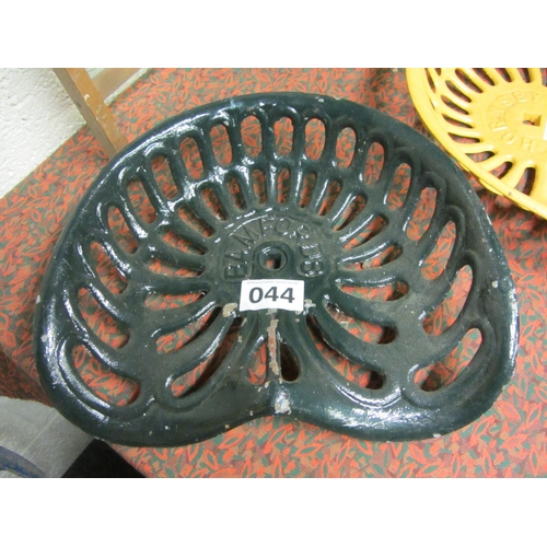 44 - Antique Cast Iron Machinery Seat - Bamfords....