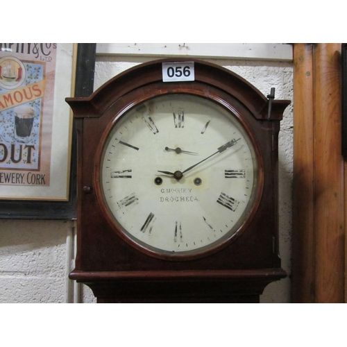 56 - Mahogany Grandfather Clock -By G Mooney Drogheda....