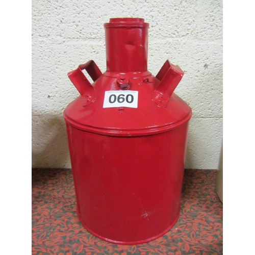60 - Antique 2 handle oil can....