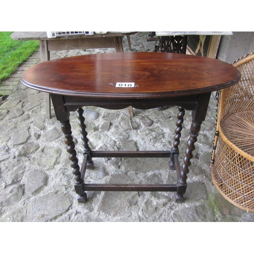 10 - Victorian oak occasional table.