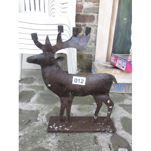 12 - Deer candle holder.