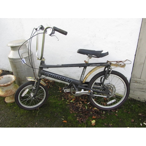 26 - Antique Raleigh chopper bicycle.