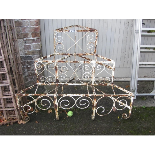 49 - Cast iron garden plant holder. 135cm x 80cm x 100cm.