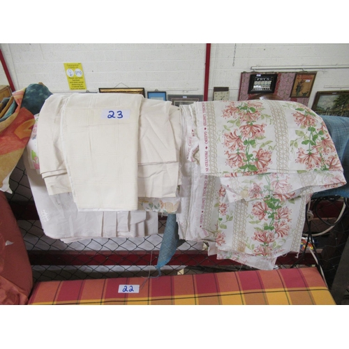 23 - Large quantity of designer fabrics.