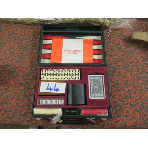 44 - Backgammon set.