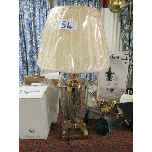 54 - Quality Table lamp and shade.