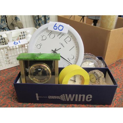60 - Selection of 5 clocks.