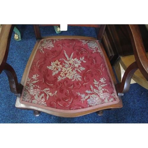 3 - An antique inlaid carver chair....