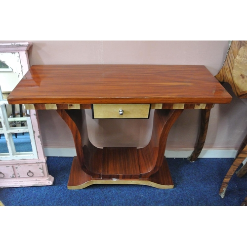 30 - An Art Deco style console table with drawer....
