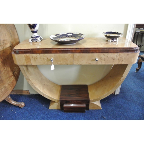 54 - A stunning Art Deco style hall/ console table with drawer....