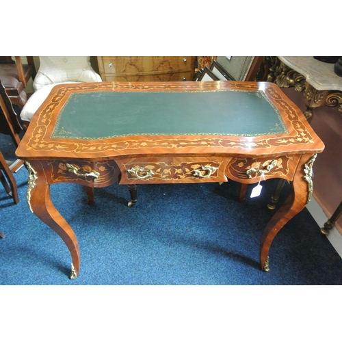 8 - An antique style decorative ladies writing desk with drawers & decorative design....