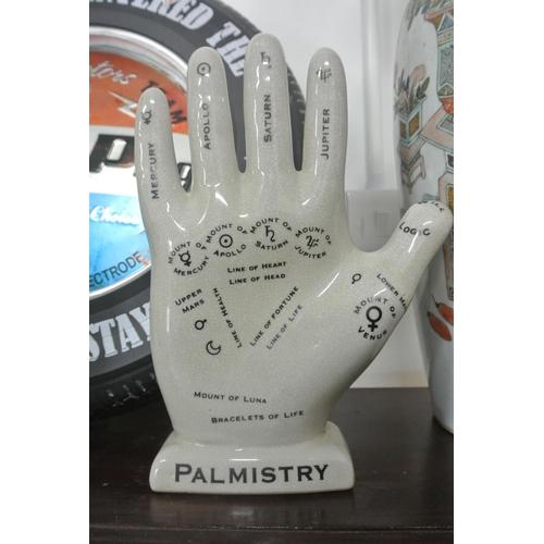 16 - A vintage style ceramic Palmistry/ Palm Reading hand....