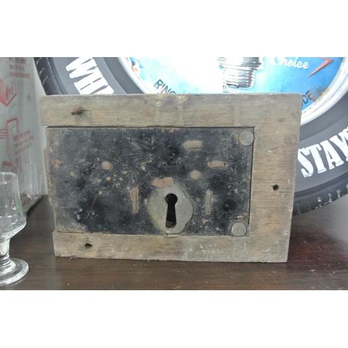 17 - A large antique lock....