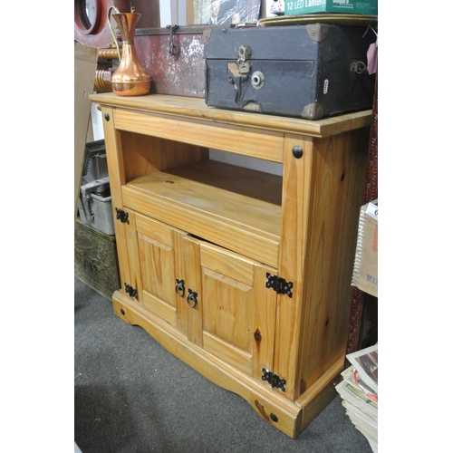 24 - A Mexican Pine Tv stand/ cupboard....