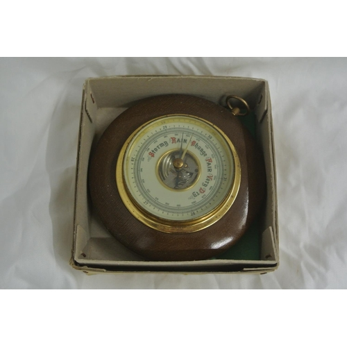 3 - A small antique/ vintage barometer in original card box....