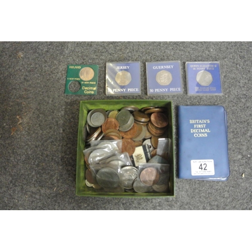 42 - A large assortment of various coinage etc....