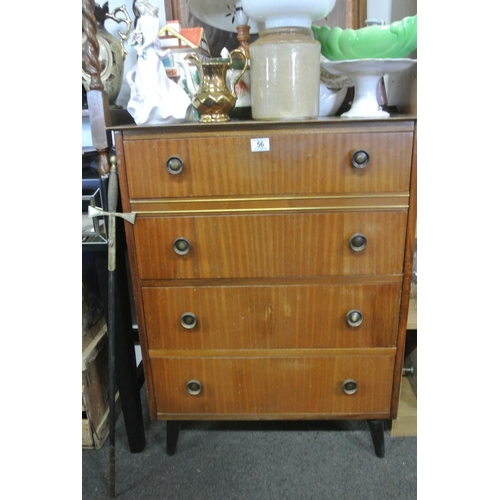 56 - A vintage/ retro chest of drawers....
