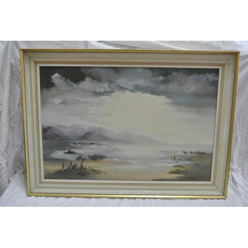 1 - A Framed Oil signed Codley dated 1984...