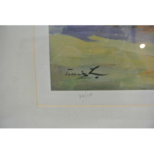15 - A nicely framed limited edition print signed William Cunningham...
