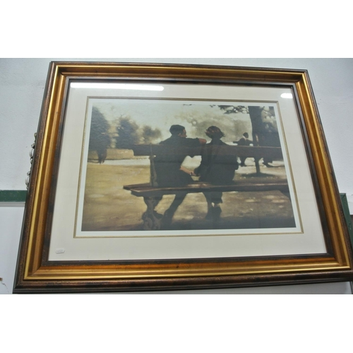 16 - A very good large framed print...