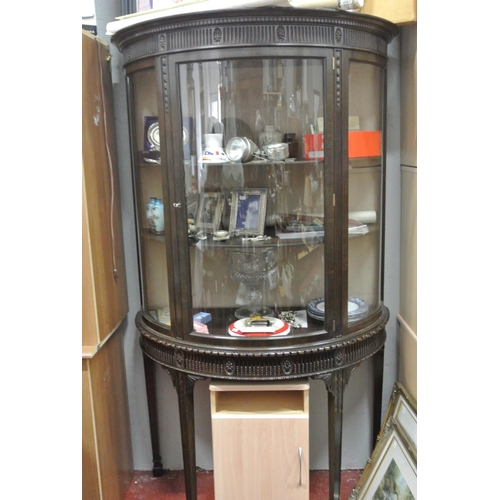 18 - A stunning antique/ Edwardian demi lune display cabinet....
