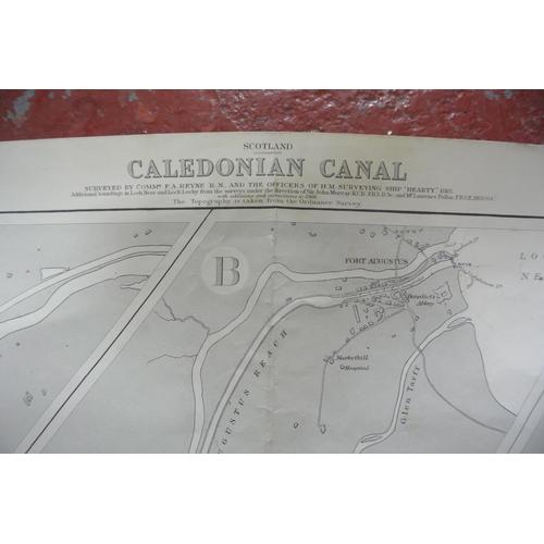 21 - A large nautical chart Caledonian Canal...