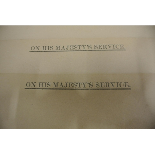 26 - Six On His Majestys Service envelopes...