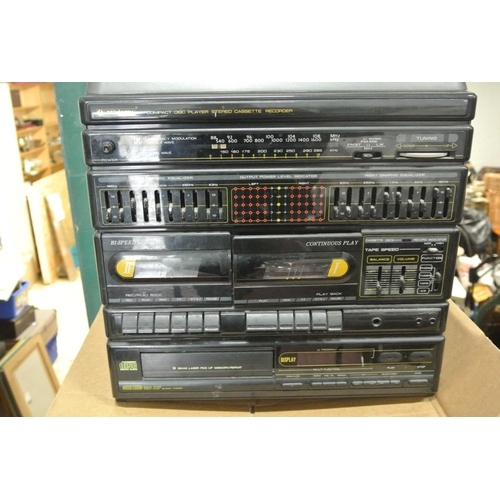 3 - An Academy turntable with cassette decks A/F...