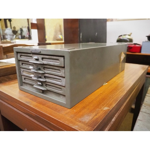 2 - A set of vintage industrial index drawers....